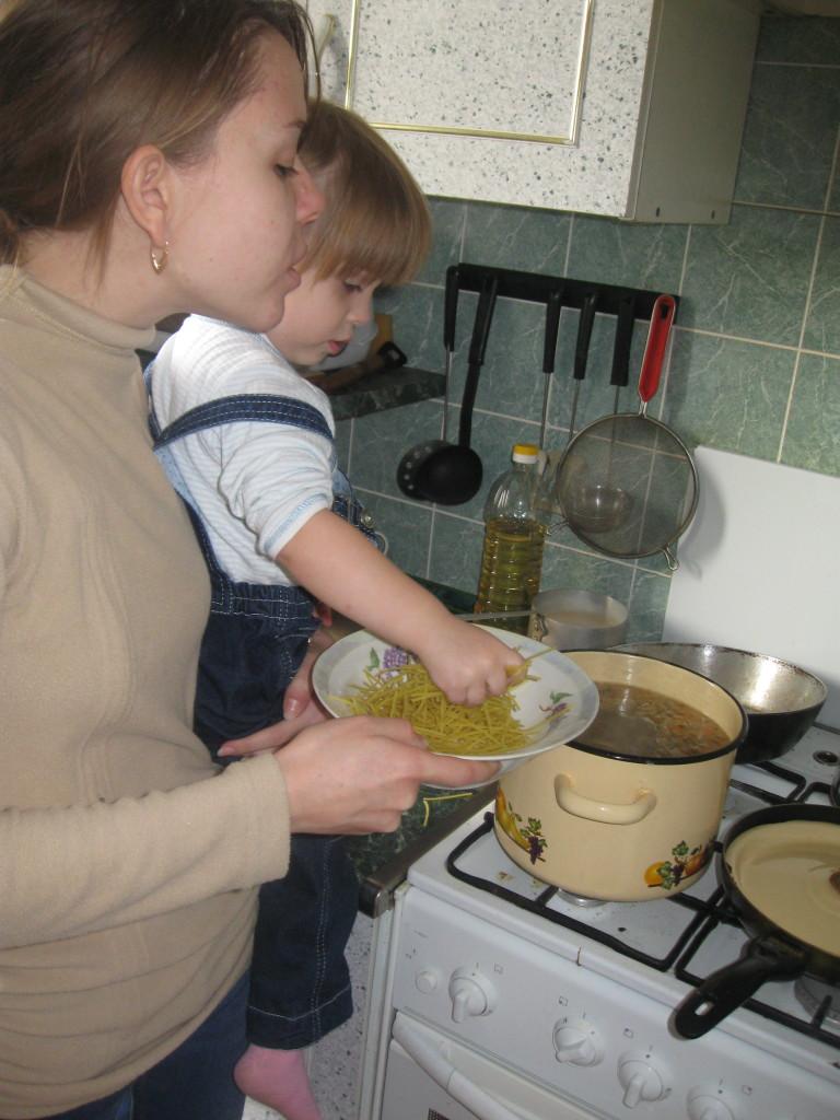 Pinching noodles