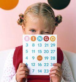 playing american bingo with kids